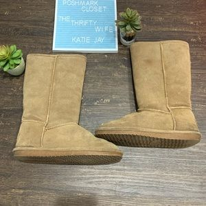 Bjorndal Cozy Tan Sheepskin Leather Boots Size 6